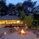 Bonfire at Stanley's Camp