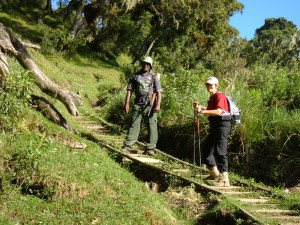 Hiking on Mt. Meru