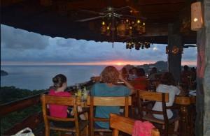 Sunset dinner at El Avion in Manuel Antonio