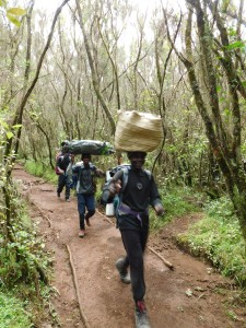 Porters on Kili do the hard stuff yet they are so good-natured all the time