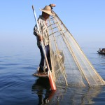 Classic scene on Inle Lake