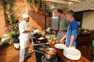 Eggs to order and buffet breakfast at Mille Collines