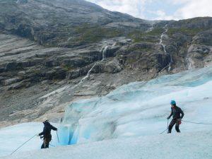 Hiking across Jostedal Glacier