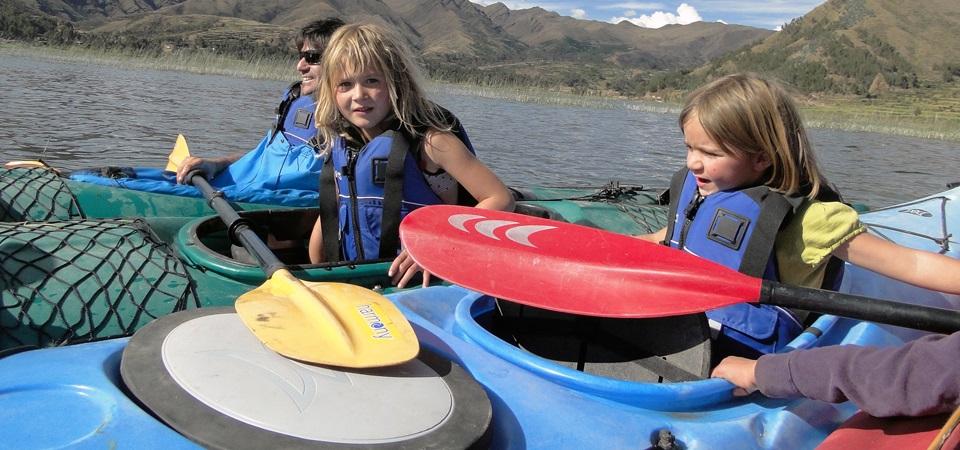 Kayaking Peru Family
