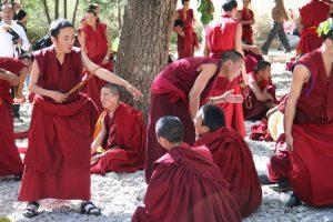 Debating at Sera Monastery in Lhasa Tibet