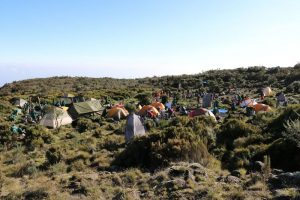 Tents and dining tent on Kilimanjaro