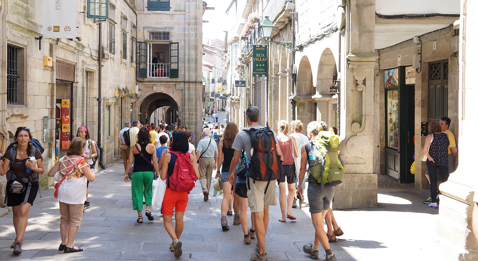 Hike the Camino de Santiago via the French Way or the Portuguese Coaster Route.